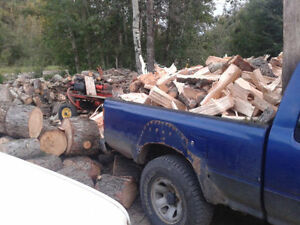 FIREWOOD DELIVERY $120 FOR TOYOTA TRUCKLOAD OF BIRCH ASPEN BLEND