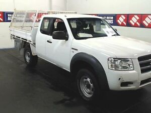 2007 Ford Ranger PJ 07 Upgrade White 5 Speed Manual SUPER CAB TIPPER Cardiff Lake Macquarie Area Preview