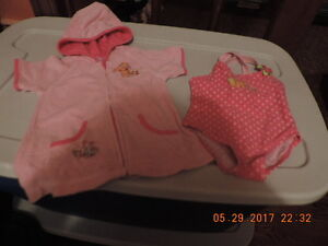 Girl's Size 24months Disney Swim Suit & Cover Up