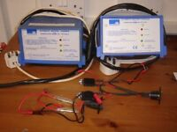 Two Sonnenschein 240 v AC to 12 v DC chargers.