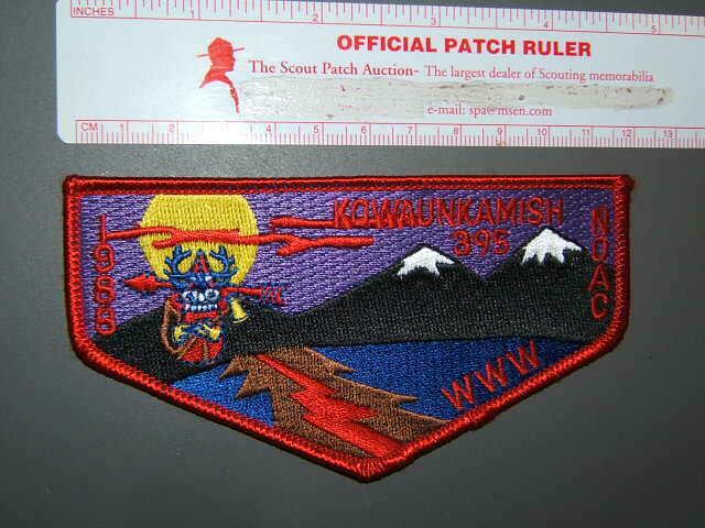 Boy Scout OA 395 Kowaunkamish flap 6042P