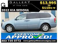 2012 Kia Sedona LX LWB $119 BI-WEEKLY APPLY NOW DRIVE NOW