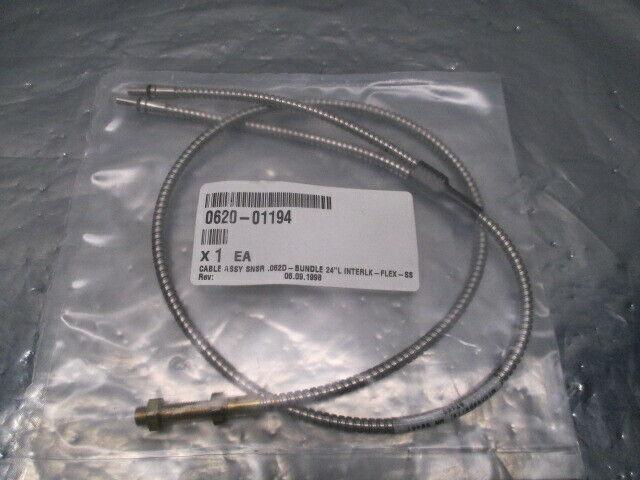 """AMAT 0620-01194 Cable Assy SNSR .062D-Bundle 24""""L Interlk-Flex-SS, 100152"""