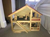 Large Wooden Dolls House including furniture