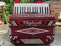 Clinkscale 72 Bass HandMade Accordion - RED