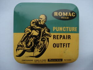 C1950S-60S-VINTAGE-ROMAC-PUNCTURE-REPAIR-KIT-TIN-CONTAINING-CURE-C-CURE-PATCHES