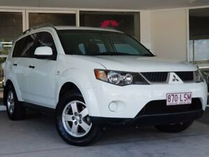 2009 Mitsubishi Outlander ZG MY09 LS White 6 Speed Constant Variable Wagon Brendale Pine Rivers Area Preview