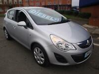 12 VAUXHALL CORSA CDTI EXCLUSIV 5 DOOR DIESEL £20 A YEAR ROAD TAX
