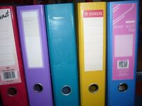 5 x A4 lever arch files in different colours ( new one used ) £2. the lot Southbourne