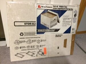 NEW FILE STORAGE BOXES