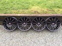 Team dynamics black alloy wheels