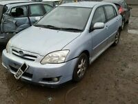 TOYOTA COROLLA 1.4 2003 ONWARDS BREAKING FOR SPARES TEL 07814971951 HAVE FEW IN STOCK
