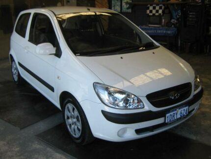 2011 Hyundai Getz TB MY09 S White 4 Speed Automatic Hatchback Fremantle Fremantle Area Preview