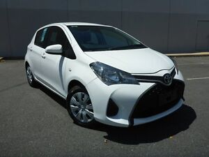 2015 Toyota Yaris NCP130R Ascent White 4 Speed Automatic Hatchback Westcourt Cairns City Preview