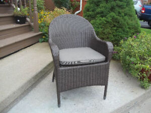 resin wicker cappuccino arm chair - Garden Furniture Glasgow