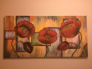 FLORAL Art- acrylic paintings $75-$100