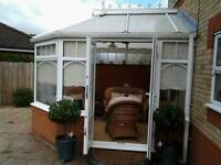 Free conservatory for you to take down and take away, optional cane furniture for a cheap price.