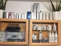 £1500 Beauty room salon equipment stock, products.Dermalogica,st tropez,shellac,calgel,towels
