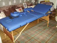 massage /healing/physio table with all accessories arm rests head rest etc as new condition