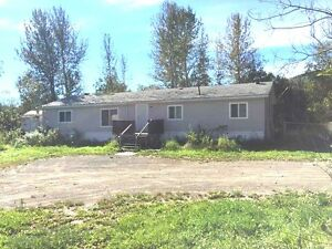 Great Double Wide Mobile on 3.5 Acres - West of Chetwynd
