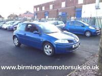 2008 (57 Reg) Renault Megane 1.6 VVT EXTREME 3DR Hatchback BLUE + LOW MILES