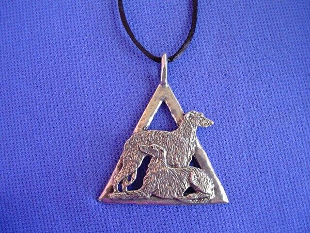 Scottish Deerhound Irish Wolfhound necklace #16A Dog Jewelry by Cindy A. Conter