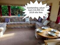 Cheap 12ft 3 Bed Static Caravan For Sale in North Wales