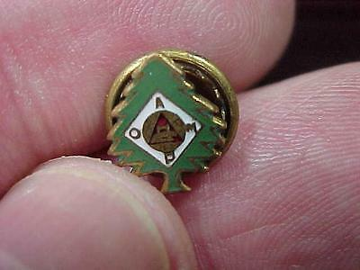 Oamp Aomp Evergreen Tree Service Forrest Ranger Society Screwback Pin    16B1