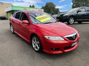 2005 Mazda 6 GG1032 Luxury Sports Red 6 Speed Manual Hatchback Lidcombe Auburn Area Preview