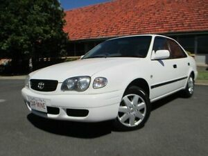 2000 Toyota Corolla AE112R Ascent White 4 Speed Automatic Sedan Chermside Brisbane North East Preview