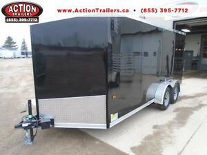 IN STOCK SPECIAL 2016 HAULIN 7X16' ENCLOSED CARGO - LOWEST PRICE London Ontario image 1