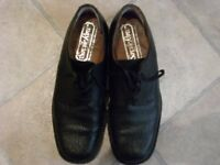 Men's Black leather Savile Row shoes