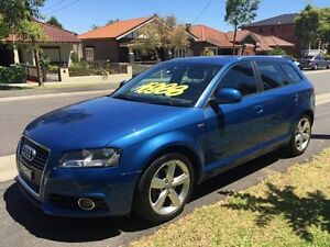2009 Audi A3 1.8T SLINE Blue Automatic Hatchback Croydon Burwood Area Preview