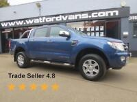 2015 Ford Ranger Limited 2.2TDCi 4x4 D/Cab *Great Spec* Diesel blue Manual