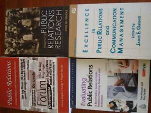 5 x UNWANTED PUBLIC RELATIONS TEXTBOOKS for University Strathfield Strathfield Area Preview