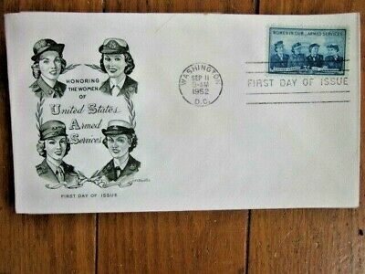 WOMEN IN THE ARMED SERVICES WACS WAVES ARMY NAVY MARINES 1952 ARTMAST CACHET FDC - Women In The Army