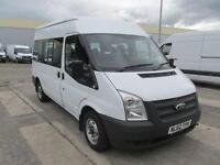 Ford Transit T300 MWB 9 Seater Shuttle Bus 125PS DIESEL MANUAL WHITE (2012)
