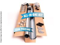 Zinc guttering kit for gabled roof   Available in anthracite (RAL7024)!