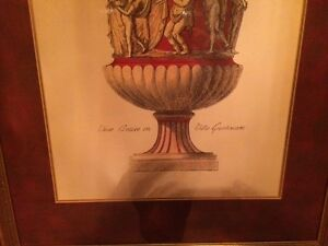 REDUCED 2 large framed and matted pictures of vases London Ontario image 2