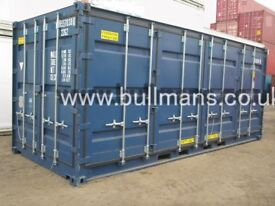 New build / Single trip - 20ft long x 8ft x 8.5ft open side containers for sale