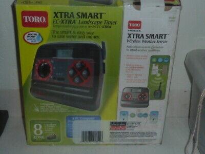 Toro Xtra Smart 8 Zone EC-XTRA Landscape Timer Wireless Weather Sensor 53854