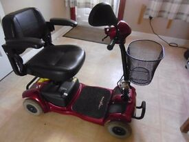 Ascot free rider mobility scooter for pavement only reconditioned good condition has added mirror