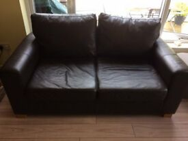 Leather sofa bed excellent condition.