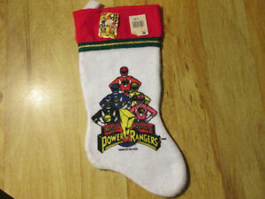 Mighty Morphin' Power Rangers Christmas Stocking Vintage 1994