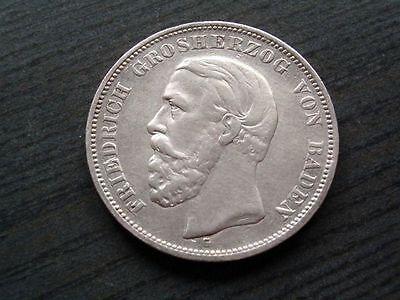 5 Mark Friedr. Grosherzog v. Baden 1901 G - Jg.29