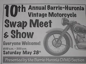 10th Annual Barrie-Huronia Vintage Motorcycle Swap Meet & Show