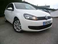 VOLKSWAGEN GOLF 2.0 MATCH TDI BLUEMOTION TECHNOLOGY 5d 138 BHP (white) 2012