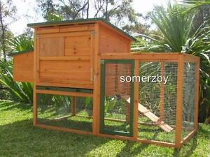 Chicken coop Somerzby BUNGALOW Rabbit Hutch large cage run Guinea Pig house