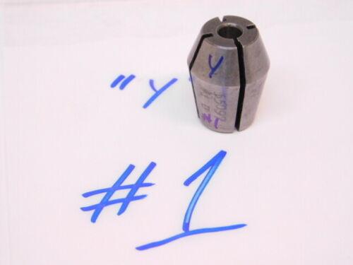 "USED UNIVERSAL ENGINEERING DOUBLE TAPER SERIES ""Y"" COLLET ( #1)(.2280)"
