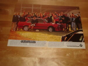 1989 BMW 325is print ad